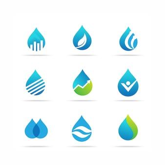 Modelli di design del logo dell'acqua