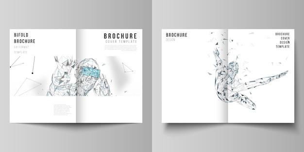 Modelli di design di mockup di copertina in formato a4