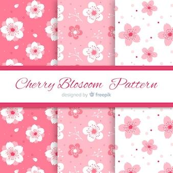 Modelli di fiori di ciliegio dell'inchiostro