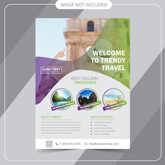 Modelli di flyer di viaggio