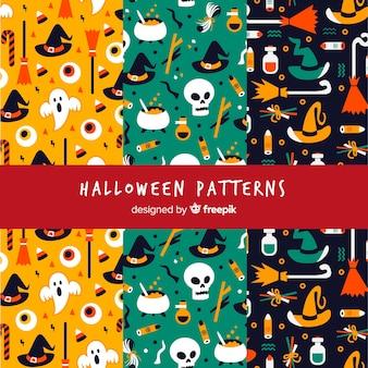 Modelli di halloween con disegni