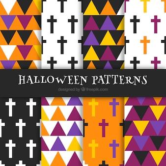 Modelli di halloween geometrici