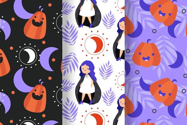 Modelli di halloween in design piatto