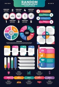 Modelli di infografica casuali per il marketing