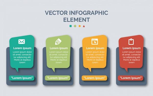 Modelli di infografica per il business