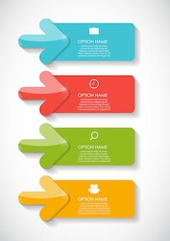 Modelli di infografica per illustrazione di affari