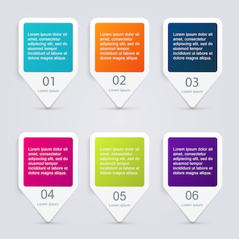 Modelli di infografica per le imprese. può essere utilizzato per il vettore di layout del sito web, banner numerati, diagramma.