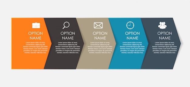 Modelli di infografica per le imprese