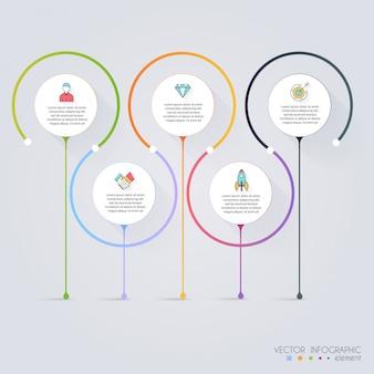 Modelli di infografica per le imprese.