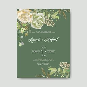 Modelli di invito a nozze bellissimo verde