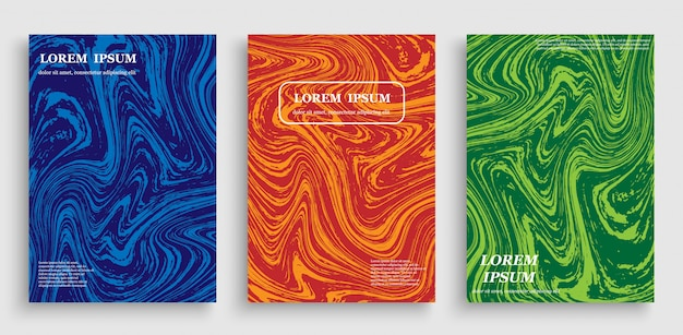 Modelli di layout brochure aziendale brillante