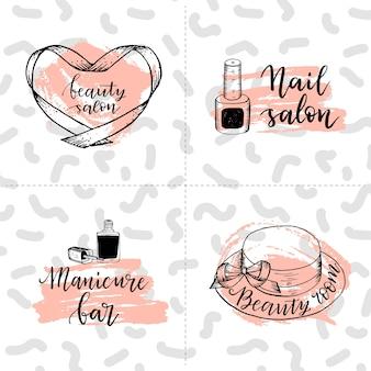 Modelli di logo di bellezza