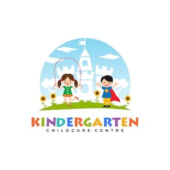 Modelli di logo di scuola materna