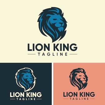 Modelli di logo lion creativo