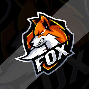 Modelli di logo mascotte fox arrabbiato