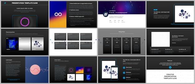 Modelli di portfolio con diapositive astratte