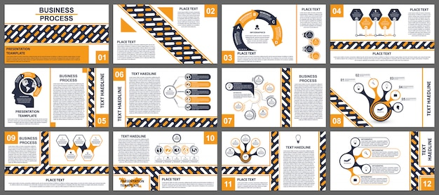 Modelli di presentazione aziendale.