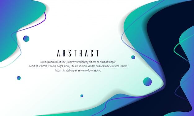 Modelli di sfondo fluido gradiente astratto moderno