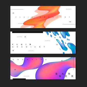 Modelli di sfondo sfumati fluidi