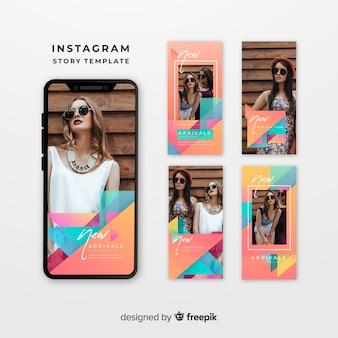 Modelli di storie di instagram colorati