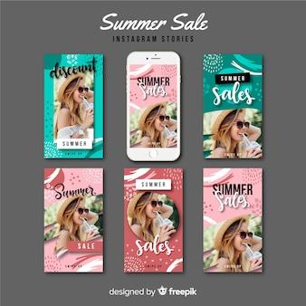 Modelli di storie di vendita estiva di instagram