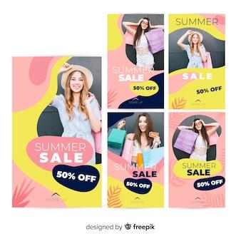Modelli di storie instagram vendita estate