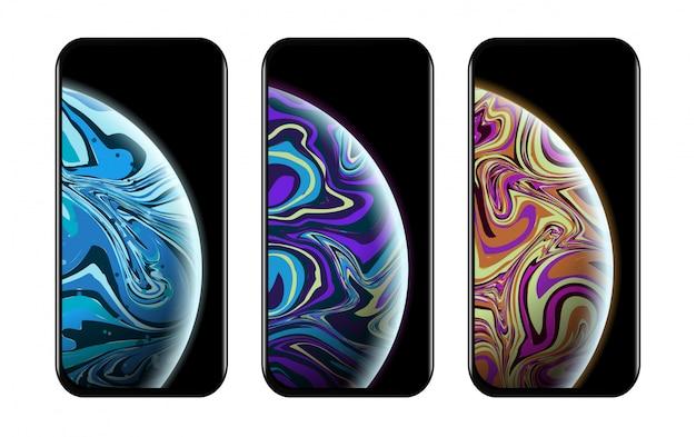 Modelli di tecnologia moderna di smartphone