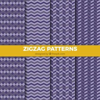 Modelli di zig-zag viola