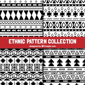 Modelli in bianco e nero etnici