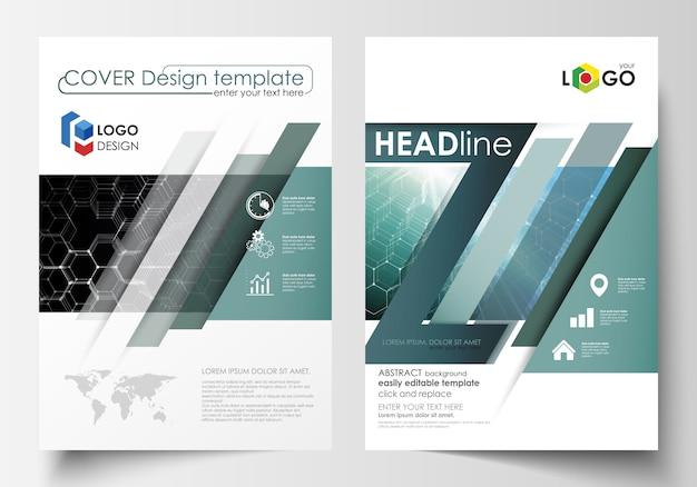 Modelli per brochure, riviste, volantini o report.