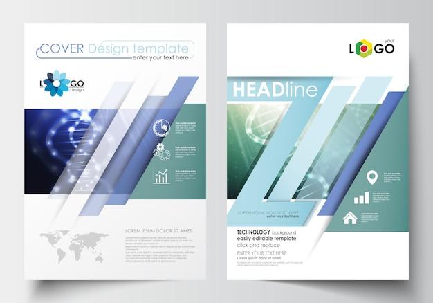 Modelli per brochure, riviste, volantini, opuscoli. modello di copertina in formato a4.