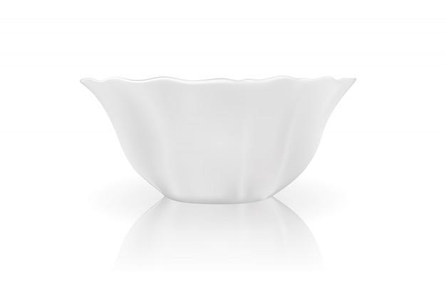 Modello 3d realistico di piatto bianco