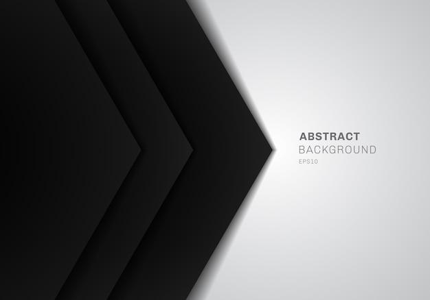 Modello 3d triangolo nero carta sfondo bianco