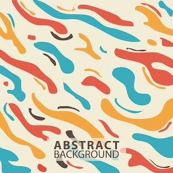 Modello abstrack sfondo linea onda colore retrò