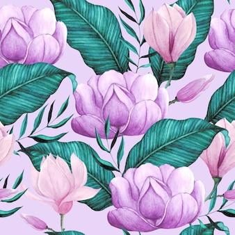 Modello acquerello floreale senza soluzione di continuità
