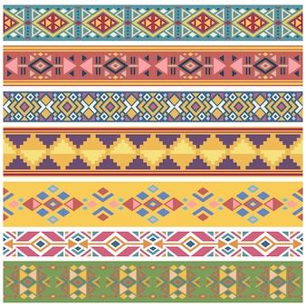 Modello antico nativo americano geometrico