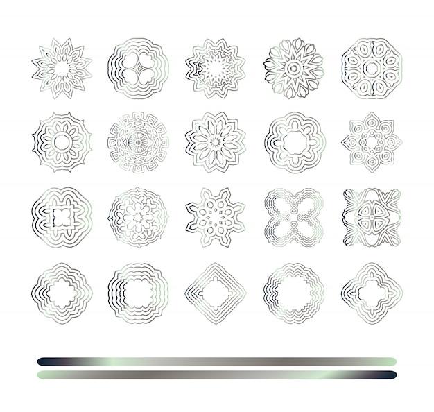 Modello argento orientale