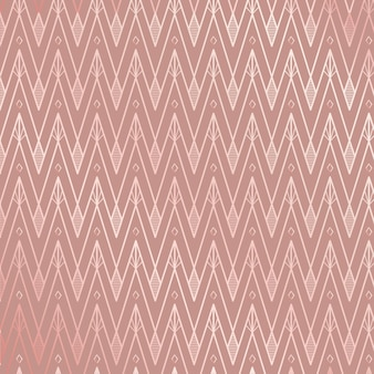 Modello art deco nei toni del rosa rosa