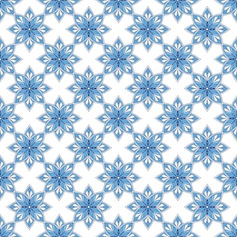 Modello art deco. sfondo moderno arabesco. ripetendo l'ornamento nei colori blu.