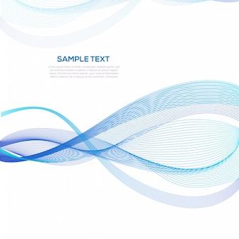Modello astratto blu del fondo di affari dell'onda