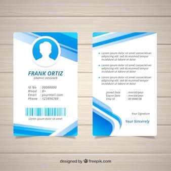 Modello astratto carta d'identità con design piatto