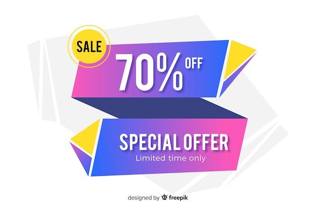 Modello astratto colorato banner di vendita
