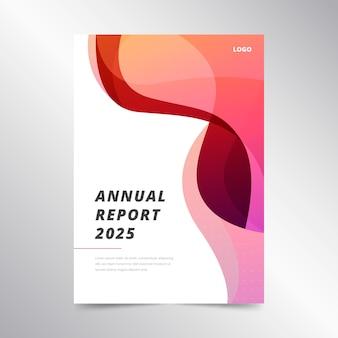Modello astratto colorato rapporto annuale