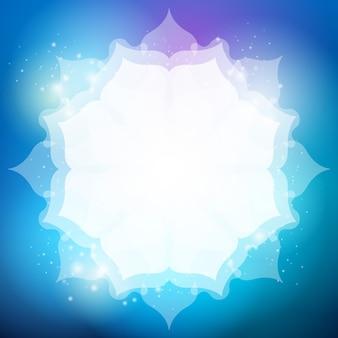 Modello astratto del cerchio di incandescenza del fondo bianco