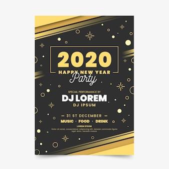 Modello astratto del manifesto del partito di nuovo anno 2020
