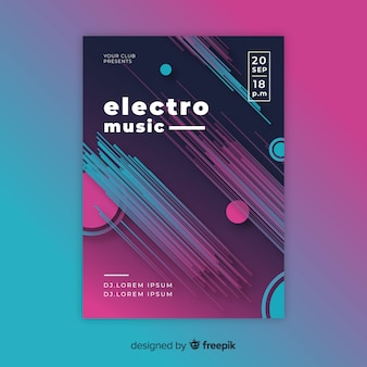 Modello astratto del manifesto di musica elettronica