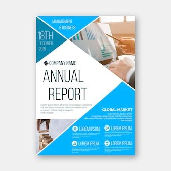 Modello astratto del rapporto annuale con l'immagine