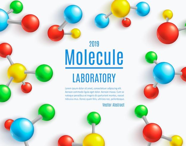 Modello astratto della bandiera della molecola per i laboratori