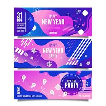 Modello astratto delle bandiere del partito del nuovo anno 2020