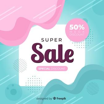 Modello astratto di banner di promozione di vendita